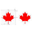 canadian maple leaf with construction sheet vector image