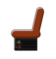 car seat icon vector image