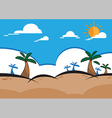 Cartoon Background vector image vector image