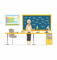 chemistry teacher - modern cartoon people vector image