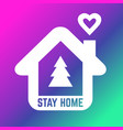 christmas time please stay home icon protection vector image vector image