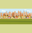 cityscape background modern city panorama vector image vector image