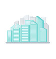 cityscape with skyscrapers building modern city vector image vector image