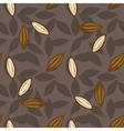 Cocoa beans seamless pattern Chocolate background vector image vector image