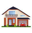 colorful flat residential houses vector image vector image