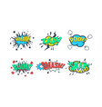 comic speech bubble with text set comic sound vector image