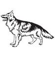 decorative standing portrait of german shepherd vector image vector image