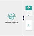 dental logo template get free business card vector image