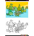dragons fantasy characters group color book vector image vector image