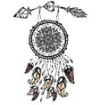dream catcher with arrow vector image vector image
