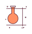 experiment flask icon design vector image vector image