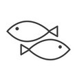 fish simple food icon in trendy line style vector image
