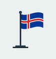 flag of icelandflag stand vector image