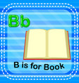 flashcard letter b is for book vector image vector image
