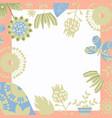 floral background card design vector image