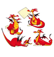 Funny dragons vector image vector image