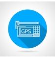 GPS navigator flat line icon vector image vector image