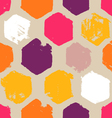hand drawn hexagon pattern vector image vector image