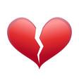 heart broken vector image