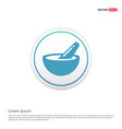 icon of bowl and chopsticks - white circle button vector image vector image
