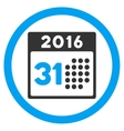 Last 2016 Month Day Icon vector image vector image