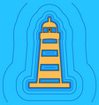 lighthouse sign sand color vector image