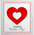 love heart from paper cut style valentines day vector image