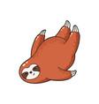lovely cartoon sloth logo vector image vector image