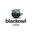 modern professional logo owl coffee for cafe vector image