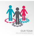 our company team icon vector image vector image