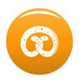 pretzel icon orange vector image vector image