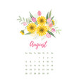printable 2018 calendar with pretty colorful vector image