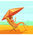 Rest At Sea vector image