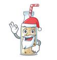 santa sweet banana smoothie isolated on mascot vector image vector image