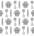 Seamless pattern of car parts vector image vector image