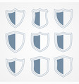 security protection shield icons set vector image vector image