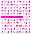 Set of social network stickers vector image vector image