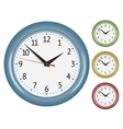 Set of wall mechanical clocks vector image