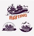 set rafting templates for labels emblems vector image