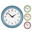 set wall mechanical clocks vector image