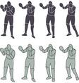 Silhouette Person Boxeo vector image vector image