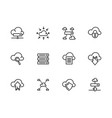 simple set cloud storage line icon vector image vector image