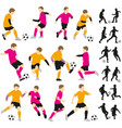 soccer football children boys playing vector image