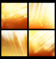 sunlight background set abstract shining vector image
