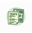 Taxes green icon vector image