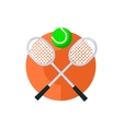 Tennis Round Sticker vector image