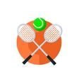 Tennis Round Sticker vector image vector image
