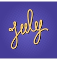 Text July on Lilac Pop Art Background vector image