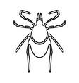 tick black icon vector image