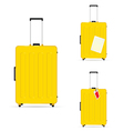 travel baggage yellow vector image vector image